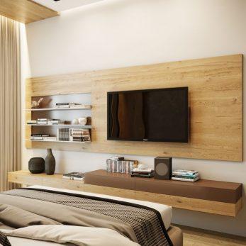 Дизайн спальни - ТВ-зона - Квартира в ЖК Актер Гэлекси