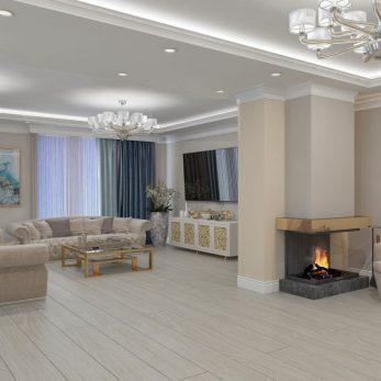 Дизайн гостиной - Апартаменты ЖК Каравелла Португалии 300 кв.м