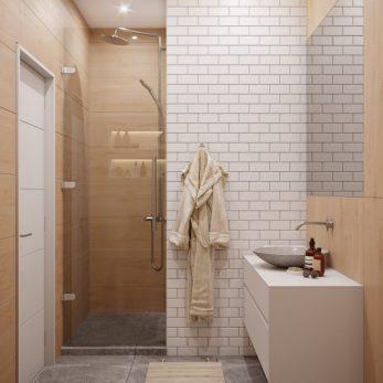 Дизайн ванной комнаты - Апартаменты ЖК Актер Гэлекси 110 кв.м