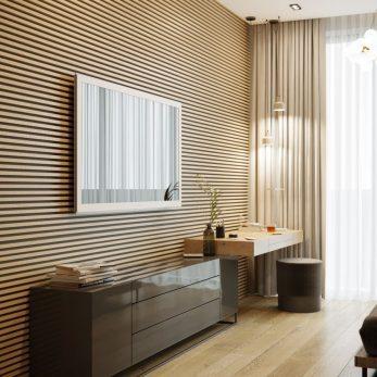 Дизайн интерьера - ТВ-зона - Квартира в ЖК Актер Гэлекси