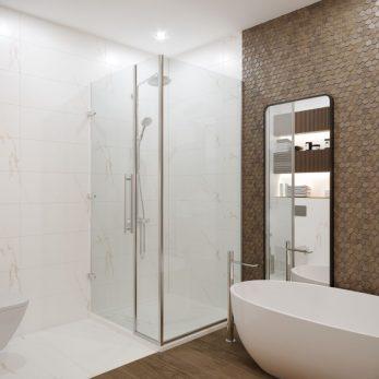 Дизайн ванной комнаты - Квартира в ЖК Актер Гэлекси