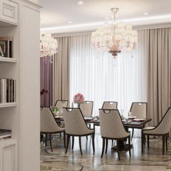 Дизайн кухни-столовой - Апартаменты ЖК Каравелла Португалии 300 кв.м