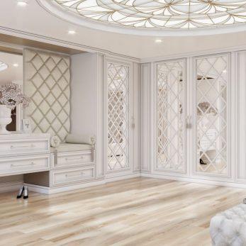 Дизайн гардеробной - Вилла на ул. Ландышевая