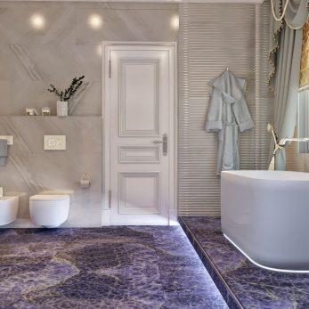 Дизайн ванной комнаты - Вилла на ул. Ландышевая