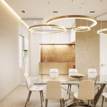 Дизайн кухни и гостиной - Квартира в ЖК Актер Гэлекси