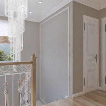 Дизайн интерьера - лестница и второй этаж - Вилла на ул. Ландышевая