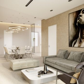 Дизайн гостиной - Квартира в ЖК Актер Гэлекси