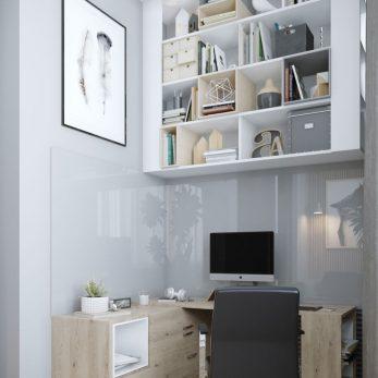 """Дизайн кабинета - ЖК """"Парковая"""", студия в стиле лофт"""