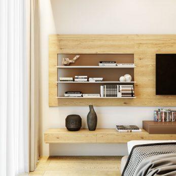"""Дизайн интерьера спальни - квартира в ЖК """"Марина Парк"""""""