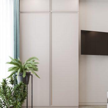 """Дизайн интерьера спальни в ЖК """"Сокол"""" – """"Морской бриз"""". Классический дизайн для молодой семьи."""