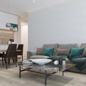 """Дизайн квартиры в ЖК """"Сокол"""" – """"Морской бриз"""". Классический дизайн для молодой семьи."""