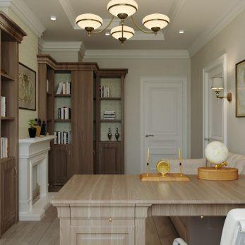 Дизайн кабинета - Апартаменты ЖК Каравелла Португалии 300 кв.м