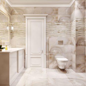 """Дизайн ванной комнаты - ЖК """"СВ парк"""", неоклассика""""Морская"""""""