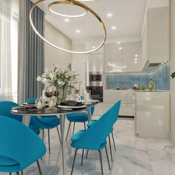 Дизайн гостиной - Вилла на ул. Ландышевая