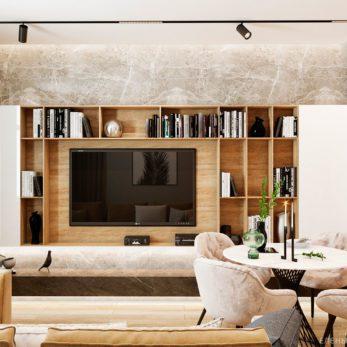 Дизайн гостиной - ТВ-зона