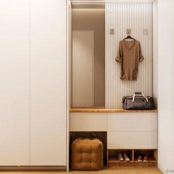 Дизайн гардеробной с элементами лофта