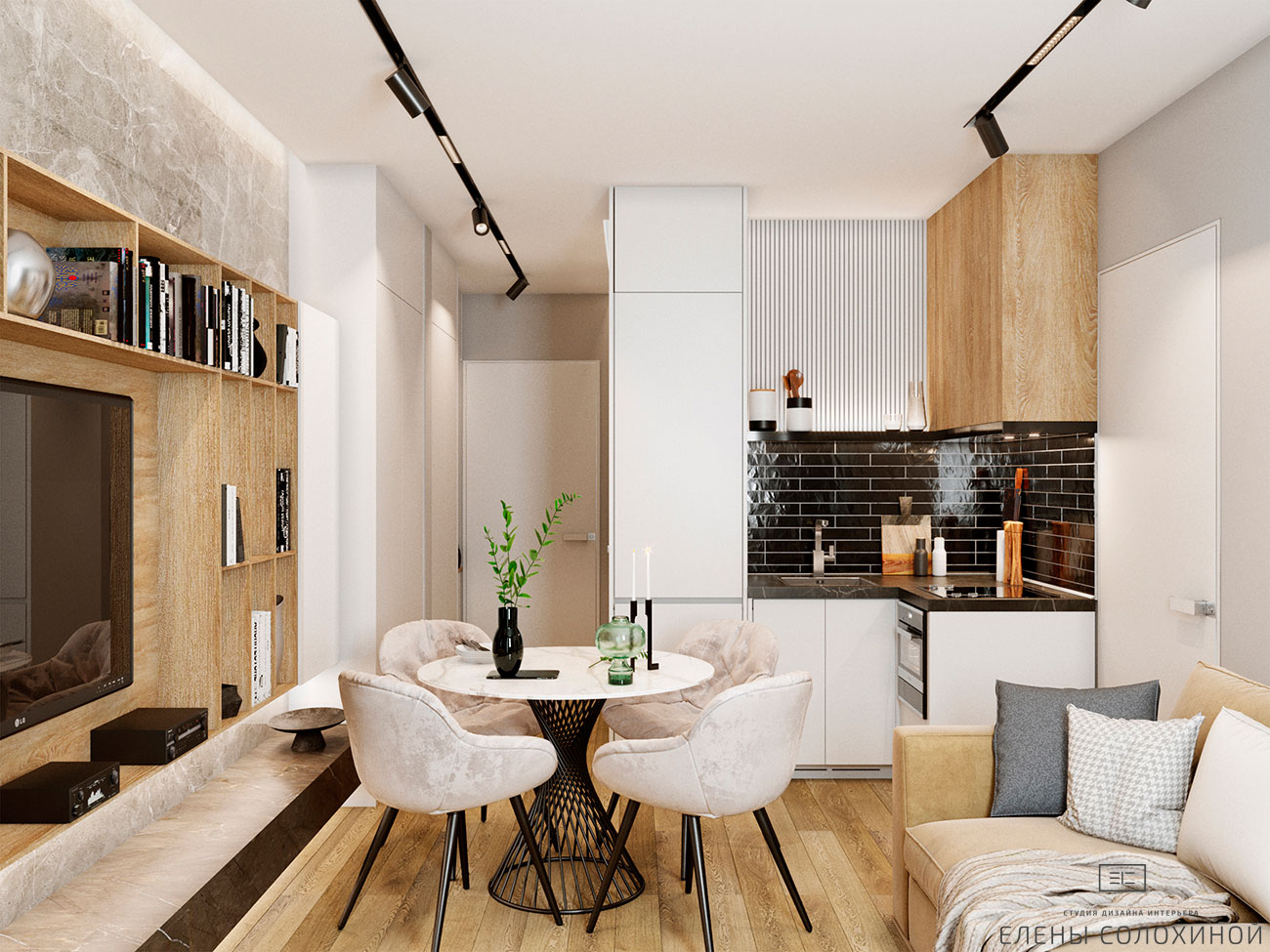 Дизайн квартиры с элементами лофта