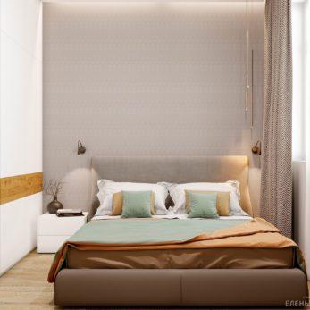 Дизайн спальни с элементами лофта