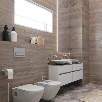 Дизайн ванной комнаты с элементами лофта