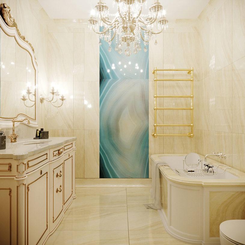 Дизайн интерьера ванной в стиле Модерн