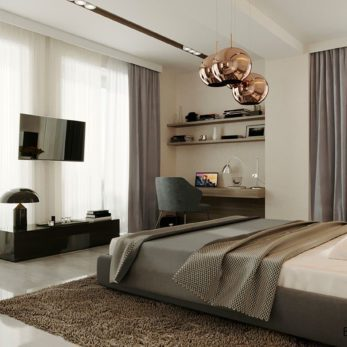 Дизайн квартиры в современном стиле с элементами лофта