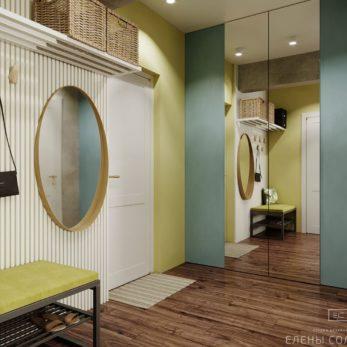 Небольшая квартира в ЖК Огни Сочи - дизайн прихожей