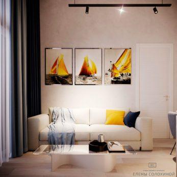 Дизайн проект квартиры - гостиная