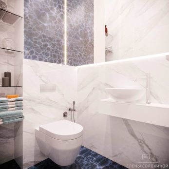 Дизайн проект квартиры - ванная