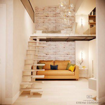 Дизайн проект квартиры - 2 уровня