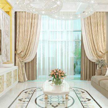 Дизайн проект квартиры в классическом стиле