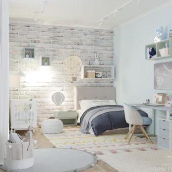 Дизайн-проект детской комнаты - Квартира для молодой семьи с 2 сыновьями