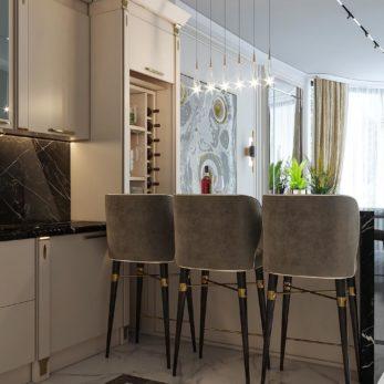 Дизайн-проект гостиной - Квартира для молодой семьи с 2 сыновьями
