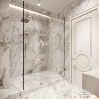 Дизайн-проект ванной комнаты - Квартира для молодой семьи с 2 сыновьями