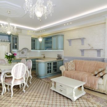 Квартира в стиле прованс с элементами классики