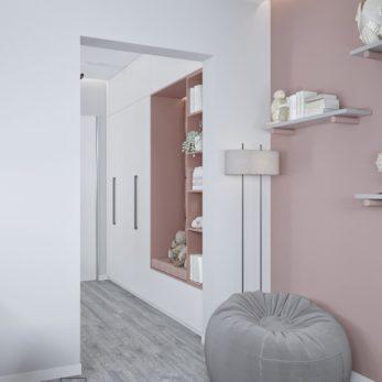 Дизайн интерьера квартиры для семьи в современном стиле с элементами минимализма