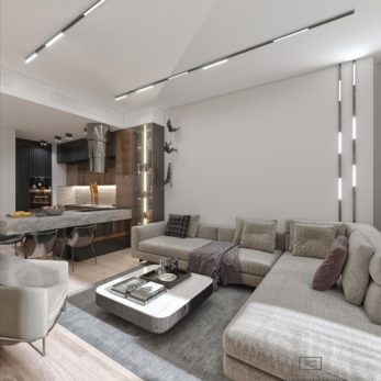 Дизайн квартиры в Москва-Сити