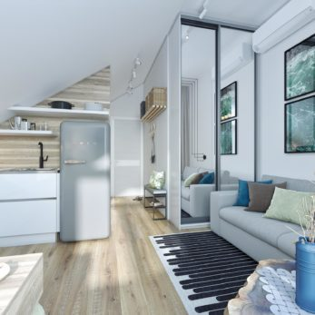 Дизайн квартиры-студии в Сочи