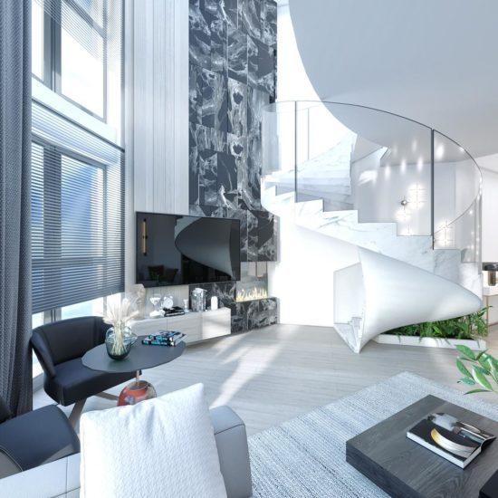 Квартира в современном стиле для молодой, спортивной и яркой семьи