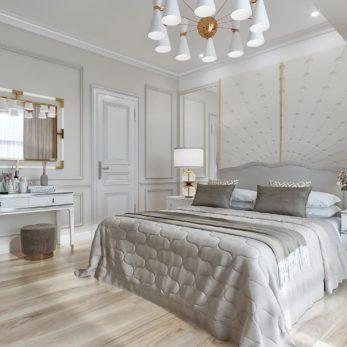 интерьер квартиры в стиле неоклассика с морским мотивом