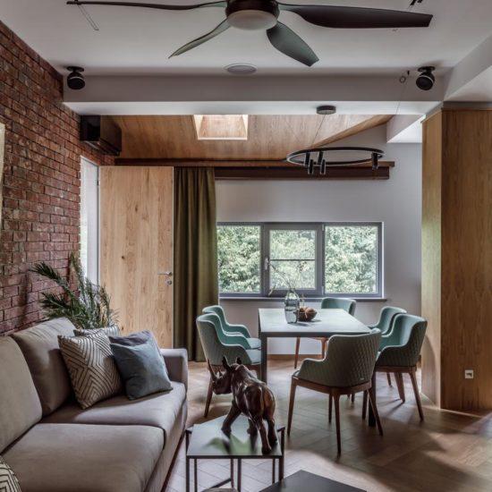 Дизайн квартиры для комфортного отдыха в горах зимой и летом