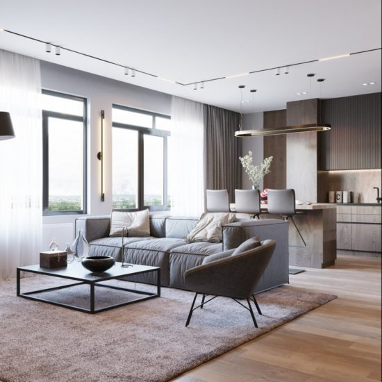 Дизайн интерьера частного дома (шпон, керамогранит) - ванная (5)